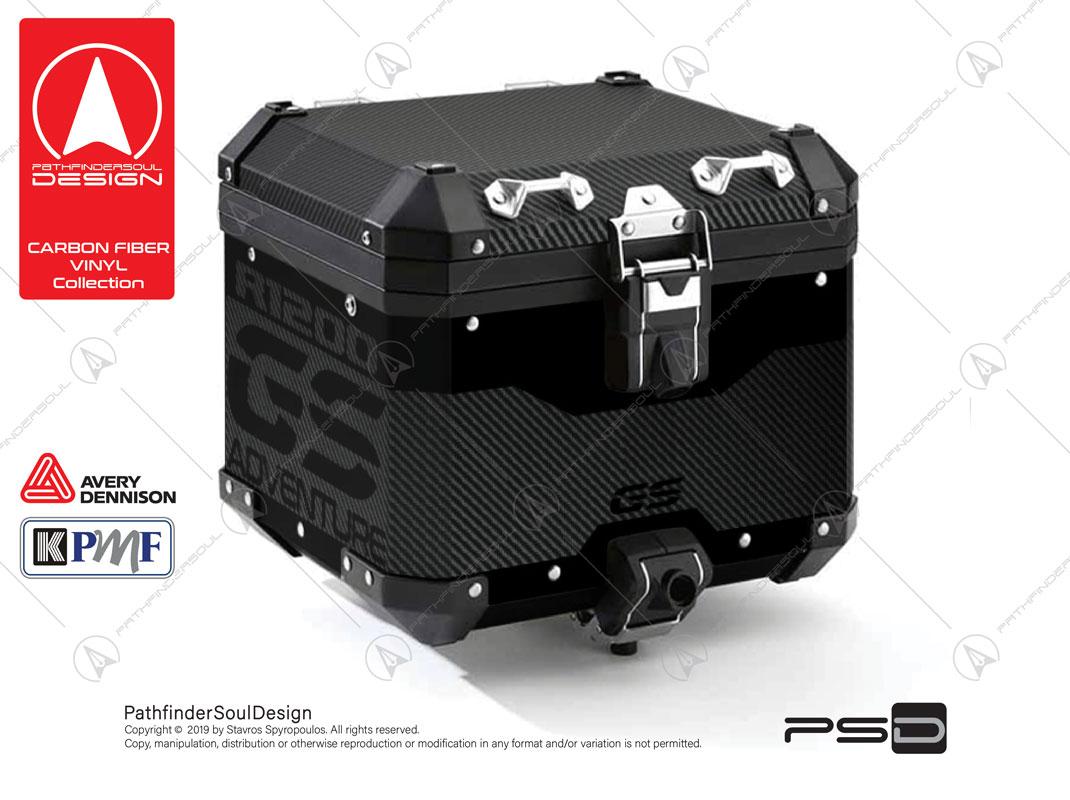 R1200 GSA TRIPLE BLACK ALUMINIUM TOP BOX CARBON FIBER STICKERS