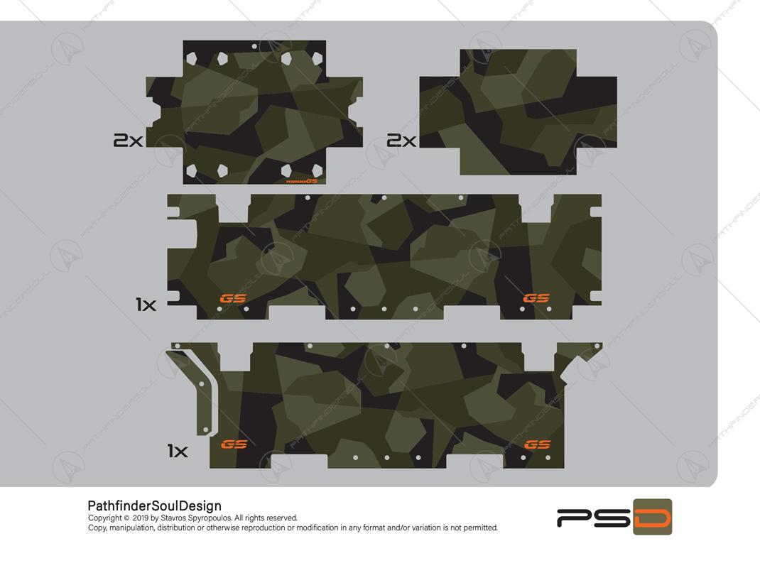 R1200 GSA M90 SWEDISH CAMOUFLAGE STICKERS