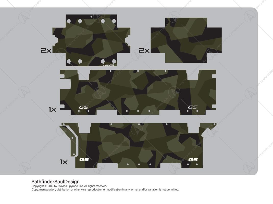 R1250 GSA M90 SWEDISH CAMOUFLAGE STICKERS