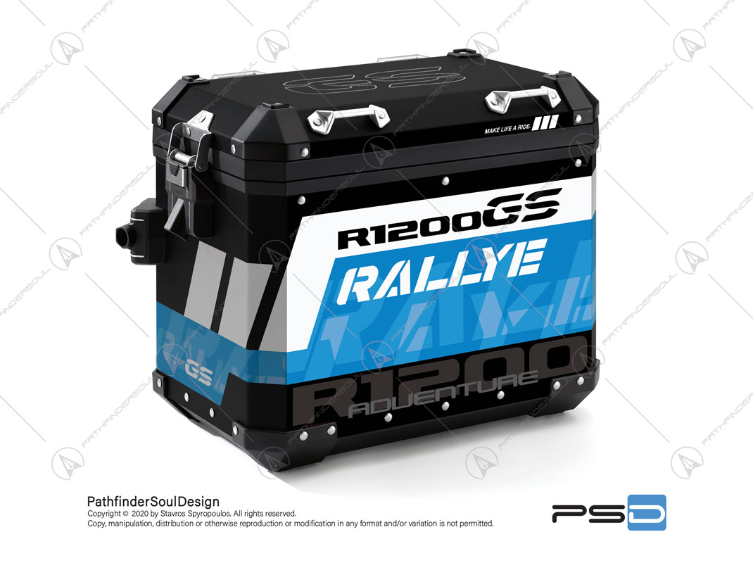 "R1200GS ADVENTURE RALLYE BMW ALUMINIUM PANNIERS ""RALLYE"" STICKERS KIT#34914"