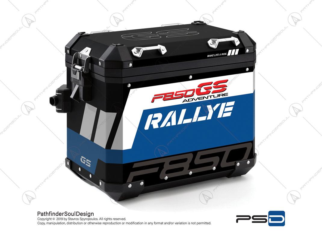 "F850GS ADVENTURE STYLE RALLYE BMW ALUMINIUM PANNIERS ""RALLYE"" VINYL&GRAPHIC KIT#34916"