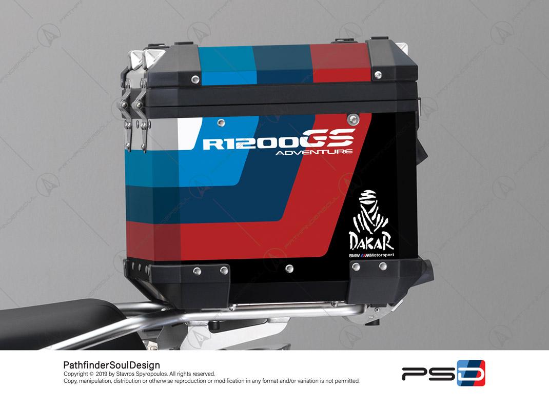 "R1200GS ADVENTURE ALPINE WHITE BMW ALUMINIUM TOP BOX ""ESSENCE"" STICKERS KIT#38292"