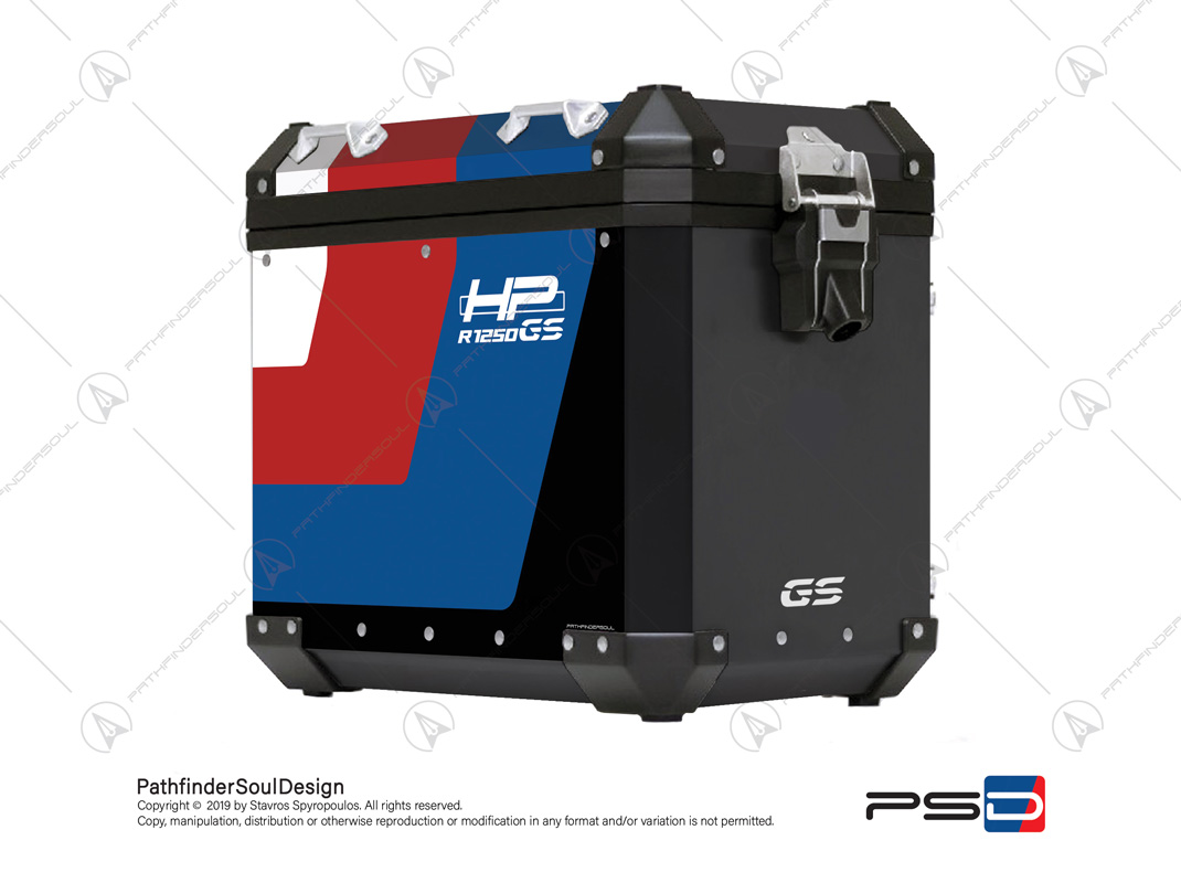 R1250 Gsa Hp Aluminium Side Cases Stickers