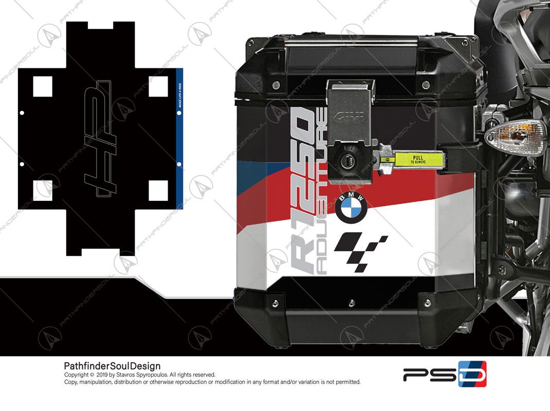 R1250 GSA Givi Trekker Panniers Stickers