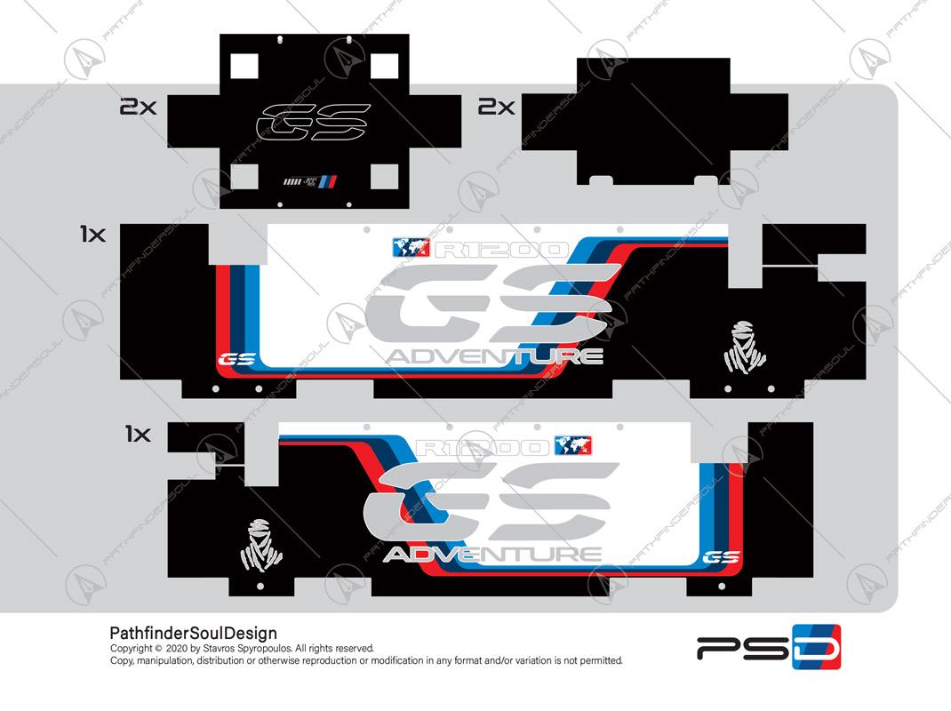R1200 GSA Givi Pannier Stickers