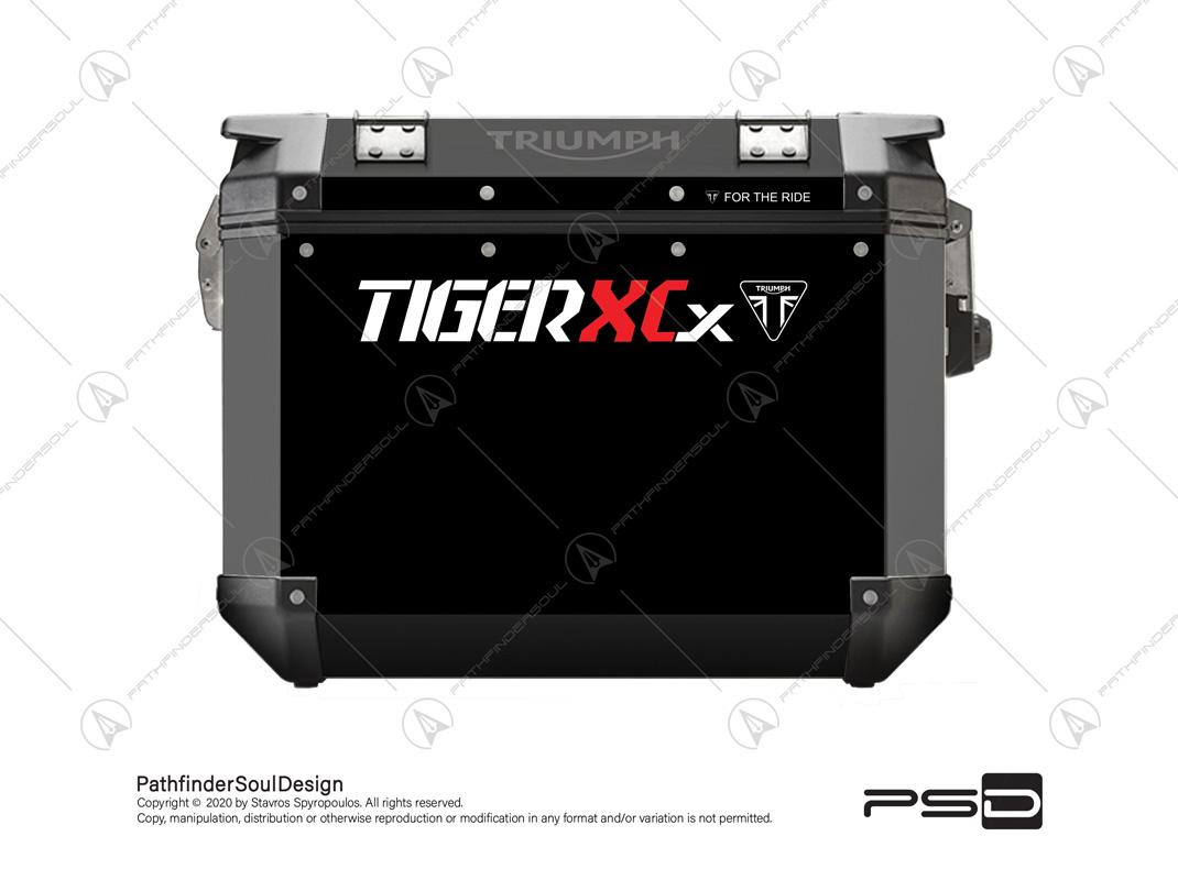 "TIGER 800XCX JET BLACK TRIUMPH EXPEDITION PANNIERS ""BASE"" STICKERS KIT#21365"