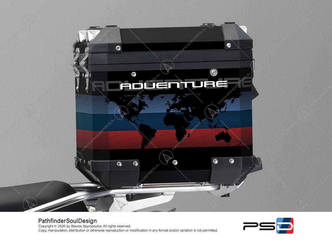 R1200 GSA TOP BOX WORLD MAP STICKERS