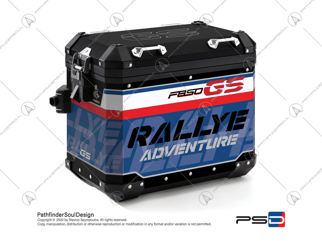 "F850GS ADVENTURE STYLE RALLYE BMW ALUMINIUM PANNIERS ""RACING"" STICKERS KIT#45917"