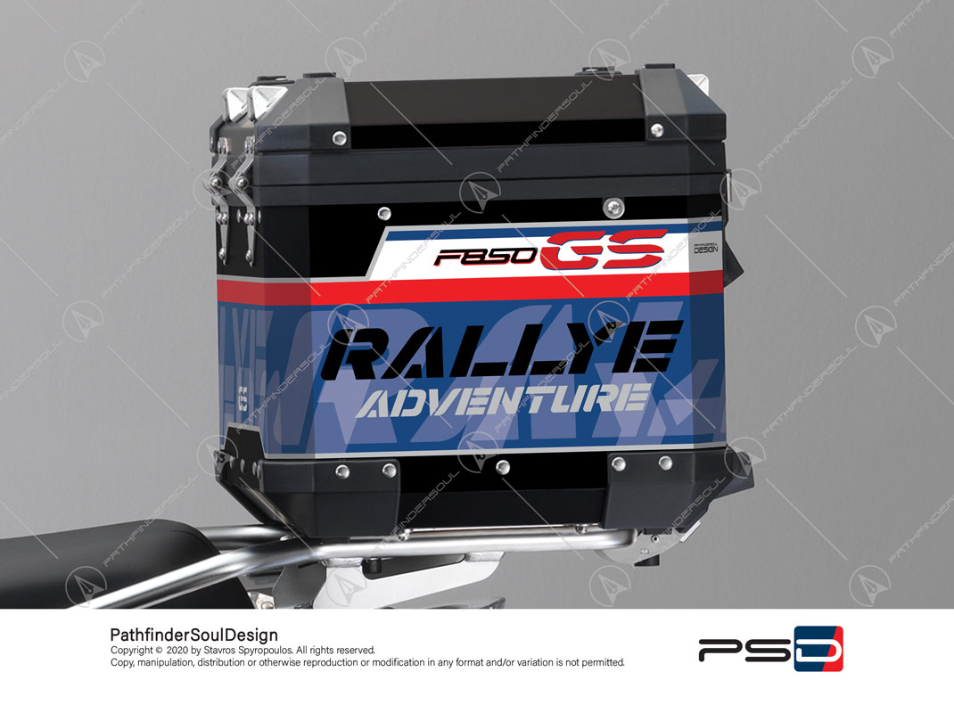 "F850GS ADVENTURE STYLE RALLYE BMW ALUMINIUM TOP BOX ""RACING"" STICKERS KIT#45917"