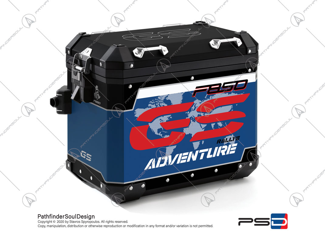 "F850GS ADVENTURE STYLE RALLYE BMW ALUMINIUM PANNIERS ""RACING"" STICKERS KIT#45286"