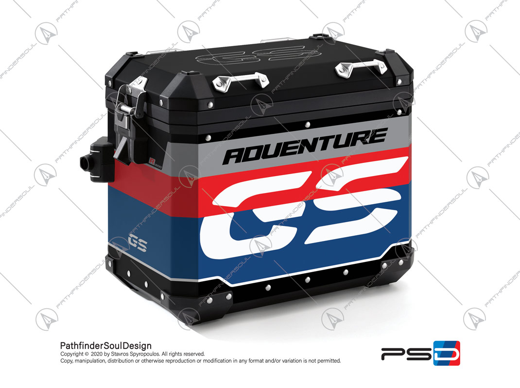 "R1200GS RALLYE BMW ALUMINIUM PANNIERS ""RACING"" STICKERS KIT#45267"
