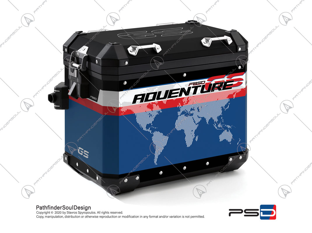 "F850GS ADVENTURE STYLE RALLYE BMW ALUMINIUM PANNIERS ""RACING"" STICKERS KIT#45271"