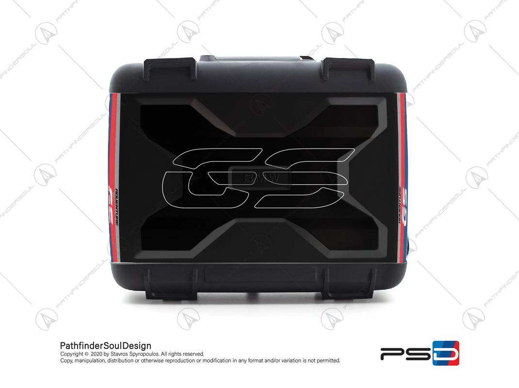"R1200GS RALLYE BMW VARIO TOP CASE ""RACING"" STICKERS KIT#45267"