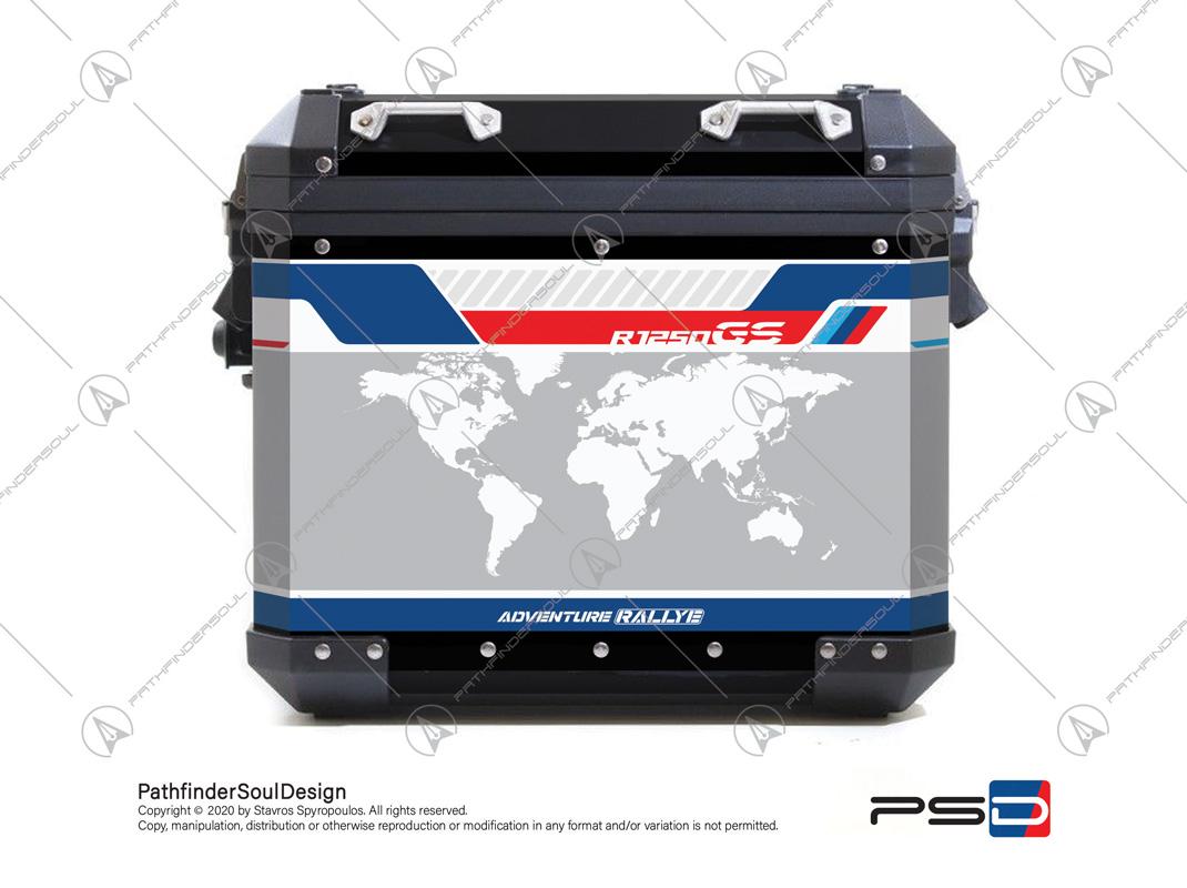 R1250 GSA 2021 RALLYE BMW ALU PANNIERS SIDE CASES STICKERS