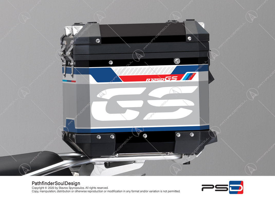 "R1250GS ADVENTURE STYLE RALLYE BMW ALUMINIUM TOP BOX ""ADV RALLYE"" STICKERS KIT#47908"
