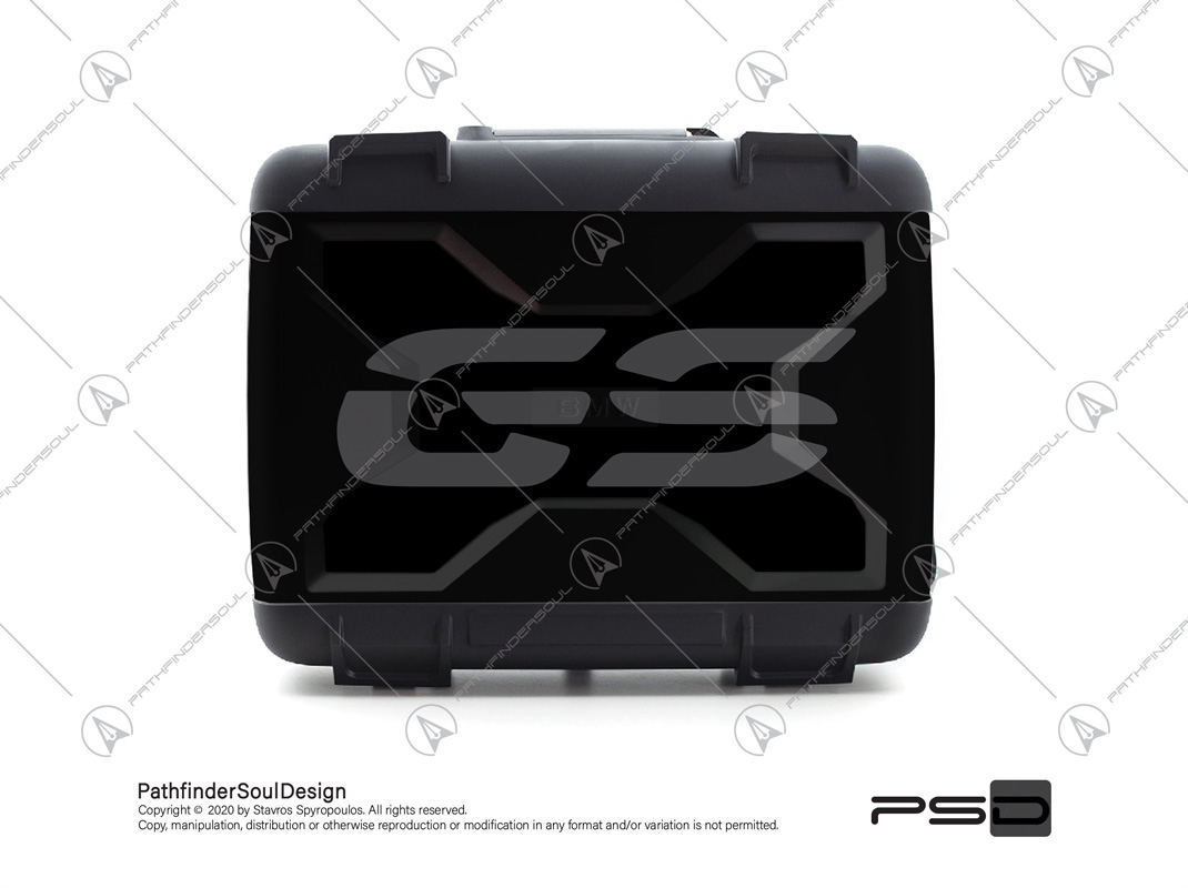 "R1250GS TRIPLE BLACK BMW VARIO TOP CASE ""TRAVELLER"" STICKERS KIT#45271"