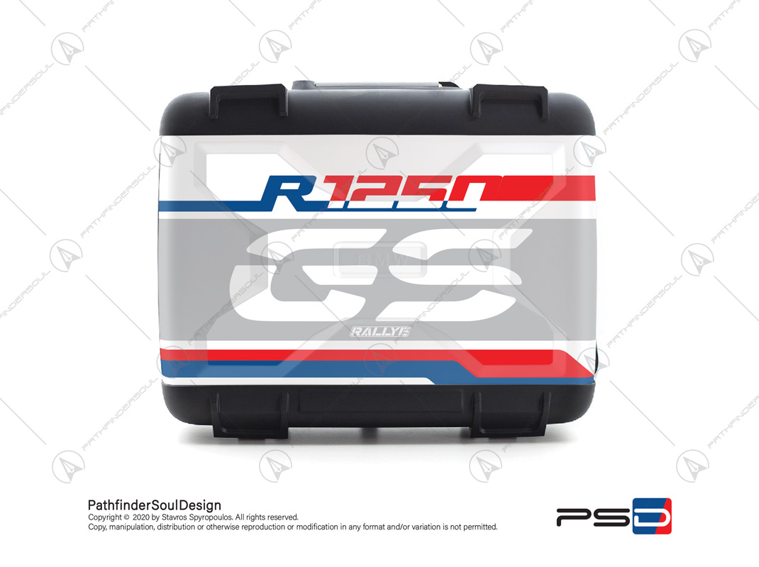 "R1250GS STYLE RALLYE BMW VARIO SIDE CASES SET ""RALLYE"" STICKERS KIT#30543"