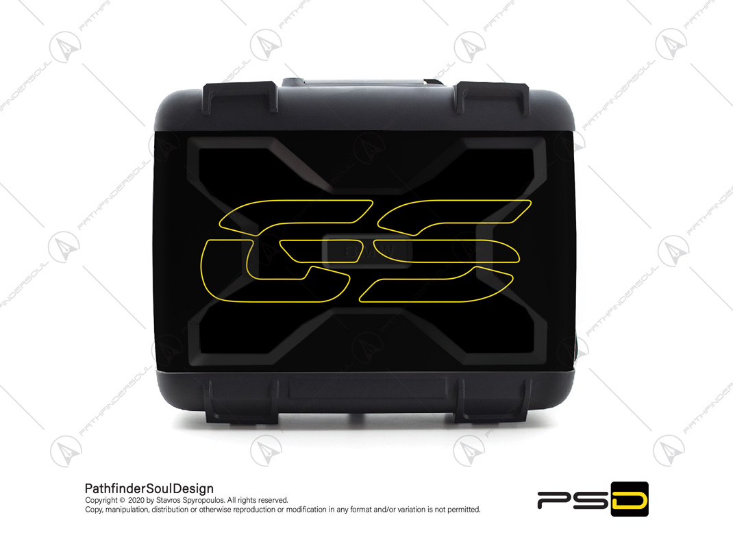 """R1250GS 40 YEARS GS EDITION BMW VARIO TOP CASE """"RACER"""" STICKERS KIT#51719"""