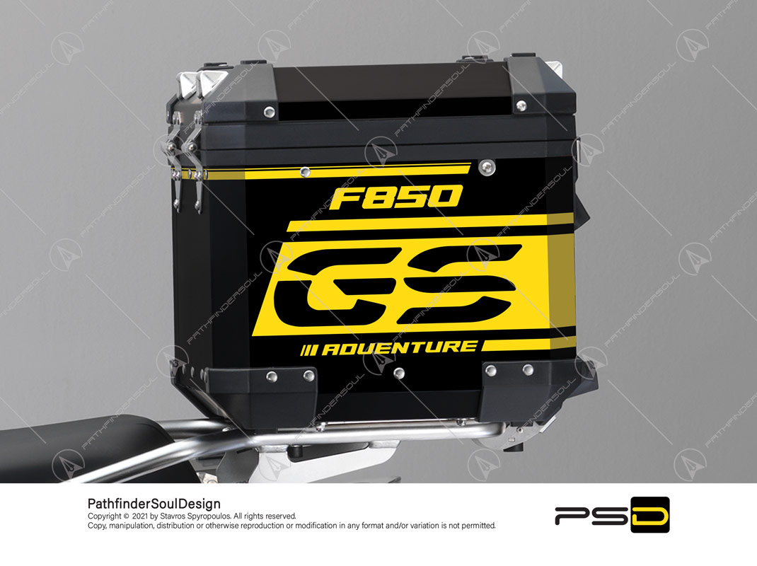 "F850GS ADVENTURE 40 YEARS GS EDITION BMW ALUMINIUM TOP BOX ""ANNIVERSARY"" STICKERS KIT#48726"