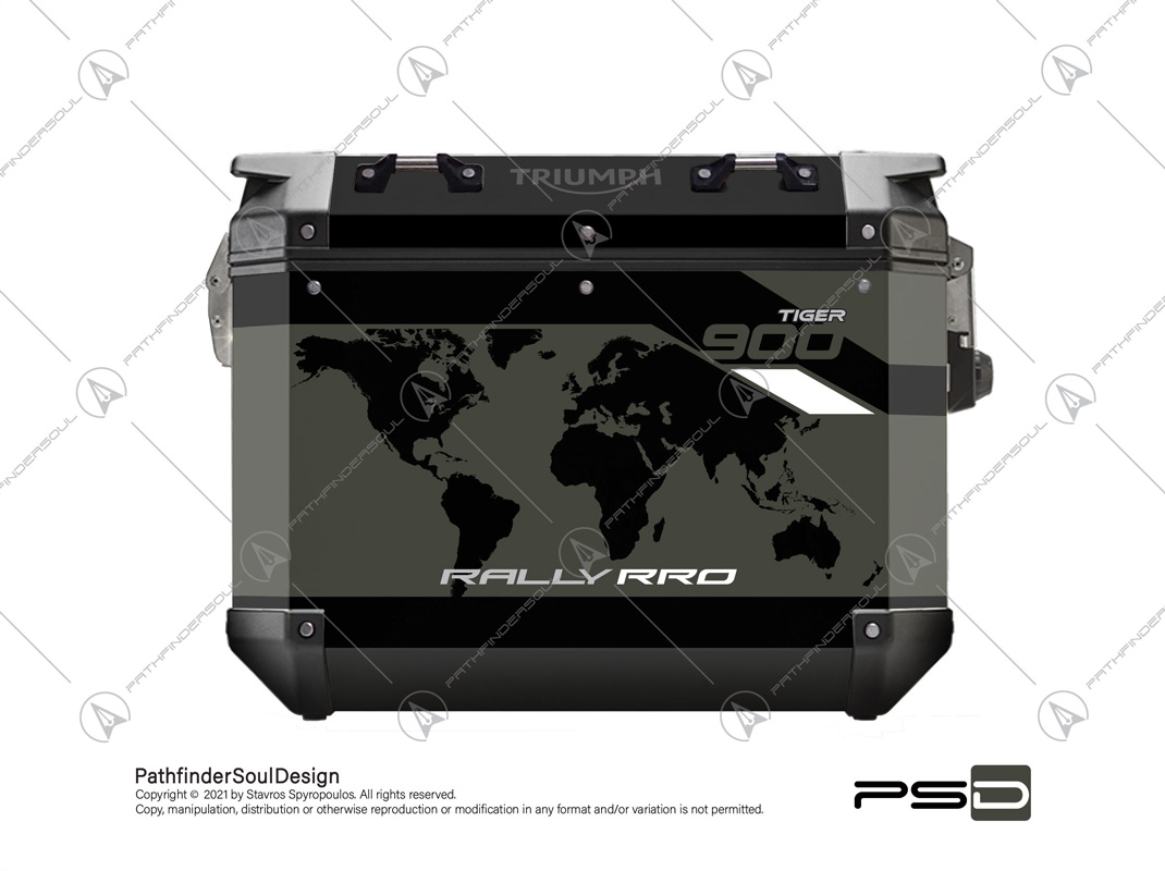 """TIGER 900 RALLY PRO TRIUMPH EXPEDITION PANNIERS """"RALLY PRO ONE"""" STICKERS KIT#88330"""