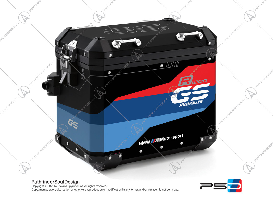 "R1200GS RALLYE BMW ALUMINIUM PANNIERS ""MOTORSPORT"" STICKERS KIT#32218"