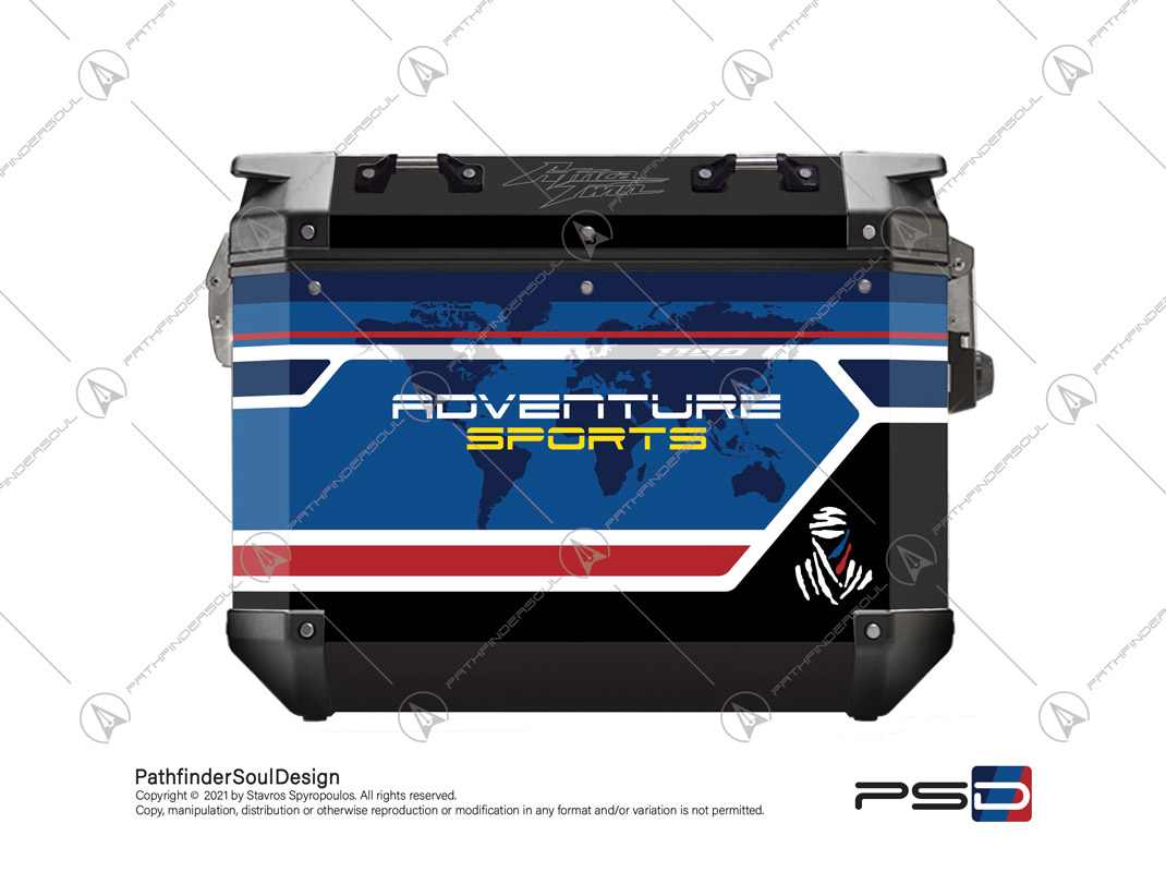 "CRF1100L AFRICA TWIN GIVI TREKKER OUTBACK ALUMINIUM SIDE CASES ""ADVENTURE SPORTS"" STICKERS KIT#25512"