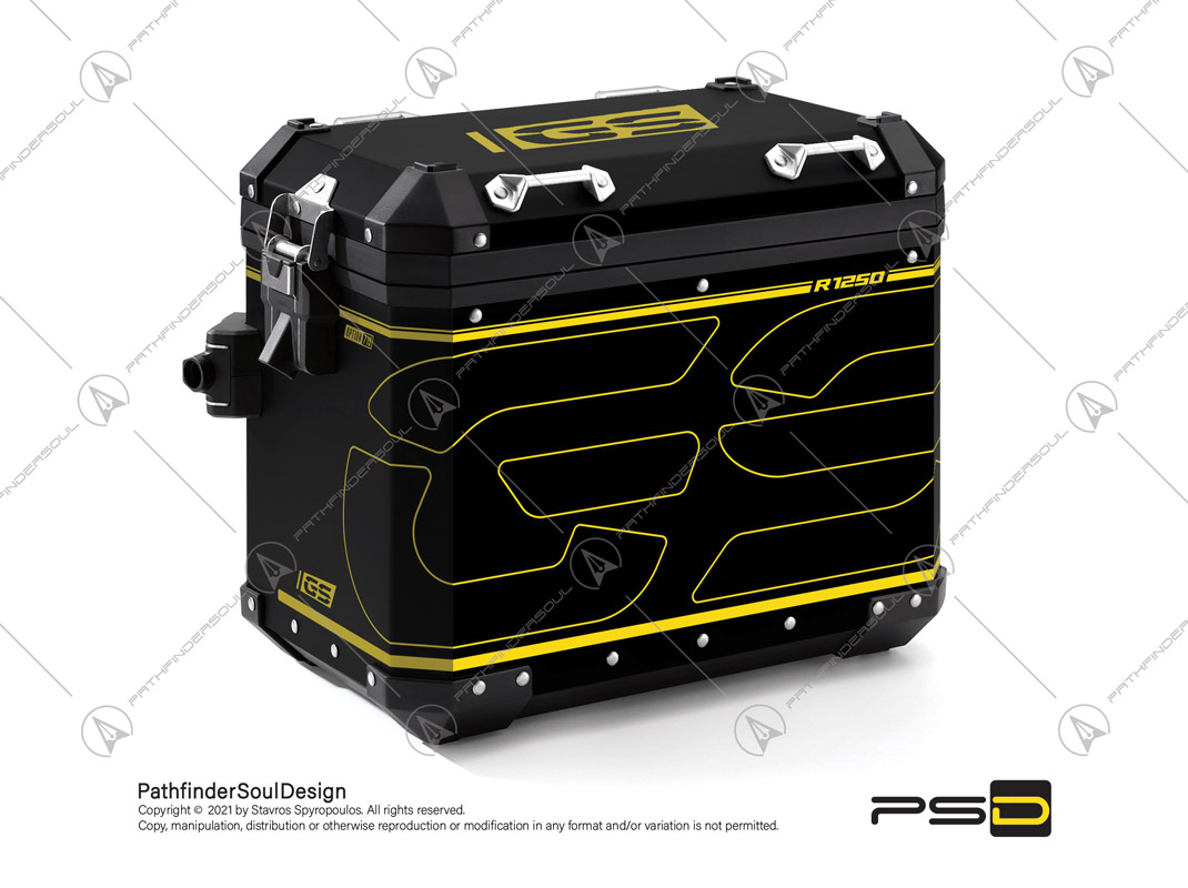"""R1250GS ADVENTURE 40 YEARS GS EDITION BMW ALUMINIUM PANNIERS """"ELECTRIC"""" STICKERS KIT#34531"""