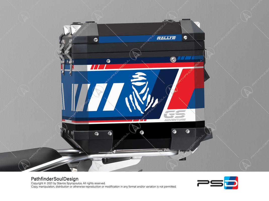 "R1250GS ADVENTURE STYLE RALLYE BMW ALUMINIUM TOP BOX ""ADV RALLYE"" STICKERS KIT#55712"