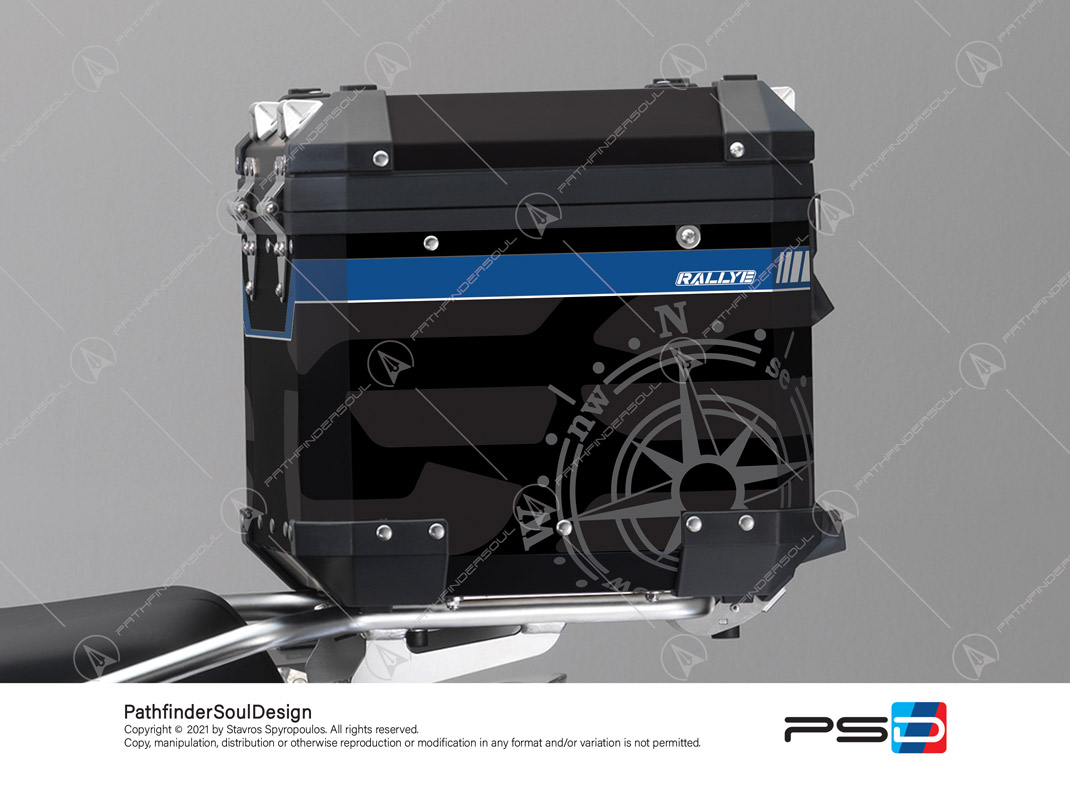 "R1250GS ADVENTURE STYLE RALLYE BMW ALUMINIUM TOP BOX ""COMPASS"" STICKERS KIT#56287"