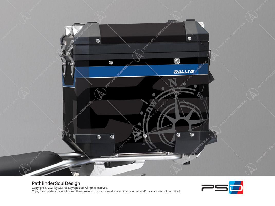 "R1250GS ADVENTURE STYLE RALLYE BMW ALUMINIUM TOP BOX ""COMPASS"" STICKERS KIT#56288"